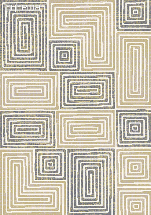 Teppich Boho Maze Sandig Bytema