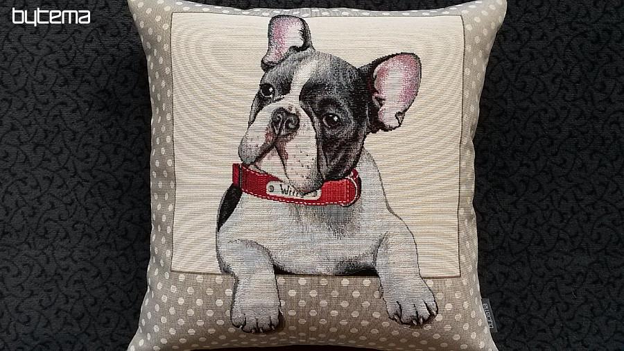 gobelin kissenbezug franz sische bulldogge bytema. Black Bedroom Furniture Sets. Home Design Ideas