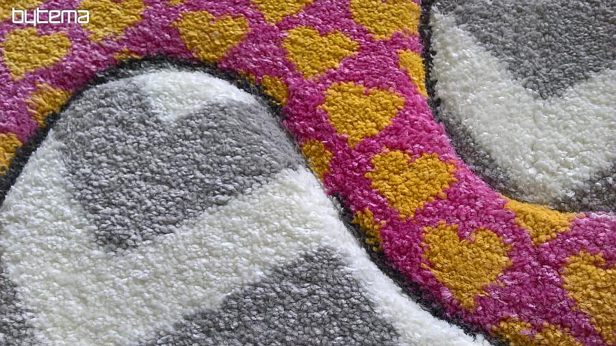 runder teppich für kinder pastel elefanten  bytema