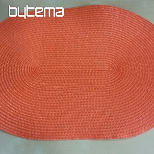 Bast-Tischdecke oval orange